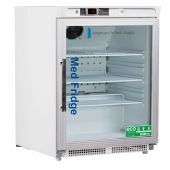 Pharmacy/Vaccine UnderCounter 4.6 Cu. Ft, ADA Glass Door Refrigerator (Built-In)