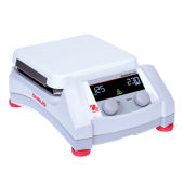 "OHAUS Guardian 5000 Hotplate Stirrer, 7""x7"" Ceramic Top Plate; Speed Range: 60-1600 rpm; Temperature Range: Ambient +5°C – 500°C; Digital Control; Backlit LCD Display; Dimensions: 4.8 x 12.2 x 8.8 in (12.2 x 30.9 x 22.3 cm); 120V."