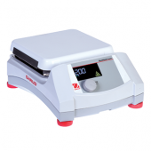 "OHAUS Guardian 5000 Hotplate, 7""x7"" Ceramic Top Plate; Temperature Range: Ambient +5°C – 500°C; Digital Control; Backlit LCD Display; Dimensions: 4.8 x 12.2 x 8.8 in (12.2 x 30.9 x 22.3 cm); 120V."