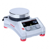 "OHAUS Guardian 5000 Hotplate Stirrer, 5.3"" Diameter Round Aluminum Top Plate; Speed Range: 60-1600 rpm; Temperature Range: Ambient +5°C – 380°C; Digital Control; Backlit LCD Display; Dimensions: 5.0 x 10.5 x 6.8 in (12.6 x 26.7 x 17.3 cm); 120V."