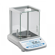 Benchmark Accuris Precision Balance W3200-320 model. Capacity: 320 grams; Readability: 0.001g; Includes a glass draft shield with 3 sliding doors for easy access, back-lit LCD display, and RS232 port for data output; Multiple mode options (standard weighi