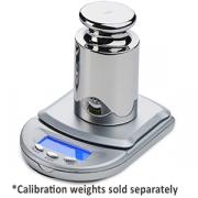 "Benchmark Accuris Mini 500g Balance; 500 gram capacity; 0.1g readability; external calibration; battery powered (2xAAA); auto shut off; pan size: 2.1 x 2.5""."