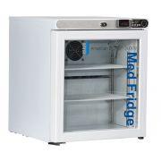 1.0 Cu. Ft, Glass Door Refrigerator (Freestanding); Left Hinged