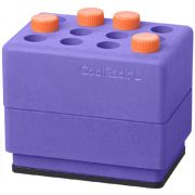 Biocision CoolRack® L; lightweight, insulated module for up to 12 x 15 mL centrifuge tubes; places directly on an ice bucket.