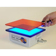 Clare Chemical Research DR22A Dark Reader Transilluminator: Viewing surface 12 x 13 cm; Multiple blue LED's; Includes amber screen and DR viewing glasses.