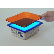 Clare Chemical Research DR46B Dark Reader Transilluminator: Viewing surface 19 x 15 cm; Multiple blue LED's; Includes amber screen and DR viewing glasses.