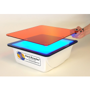 DR89X Dark Reader Transilluminator: Viewing surface 22 x 25 cm; Multiple blue LED's; for viewing a wide range of fluorescent samples including SYBR Green, GelStar, GelGreen, SYPRO Ruby, ProQ Diamond, fluorescein and various GFPs. Includes amber screen and