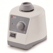 DLAB Scientific MX-S Vortex Mixer (adjustable speed) with standard top for < 30mm tubes and small vessels. Speed range: 0-2500rpm; touch or continuous operation. Vacuum suction feet for body stablility. Operating temperature: 5-40 °C. Additional adapters