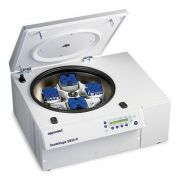 Eppendorf 5810R Centrifuge; Includes 4 x 750mL swing-bucket rotor, 2 sets each of 15 & 50 mL conical tube adapter; Features: 14,000 rpm; RCF: 20,800 x g; Timer: 1-99 min. + hold; Temp -9ºC to 40ºC; Microprocessor controlled; max. power 1650W; Dimensions: