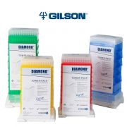 Gilson DL10 Diamond Tips, Extra Long, Sterile, 0.2-20ul, Tower-Pack, Red, pk/960 (10 Racks of 96). Requires Universal Reload Box GF-F167100.