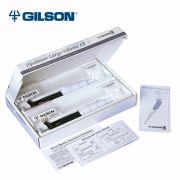 "Gilson Pipetman Classic Large Volume Starter Kit. Includes 1 each of P5000 (1.5-5.0ml), P10ML (1.0-10.0ml), one package of 10 filters (GF-F161280) and a copy of ""Gilson Guide to Pipetting"" Handbook."