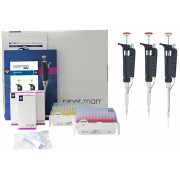Gilson Pipetman G Micro Starter Kit. Includes: 1 each of P2G (0.2-2µl), P10G (1-10µl) and P100G (10-100µl) with metal tip ejectors, 1 each of DFL10ST and DF100ST Tipack, 3 Single pipette holders, 1 bag of Coloris clips (10), 3 plastic tip ejectors and a c