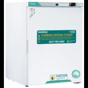Norlake Scientific White Diamond Series Undercounter Flammable Storage Refrigerator, Freestanding, 5 Cu. Ft., Solid Door