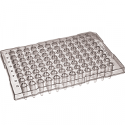 96-well skirted PP PCR plate, 0.2mL, white, non-sterile, 10 plates per pack