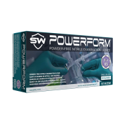 PowerForm Extra-Long Powder-Free Nitrile Gloves, 12 inches Long, X-Small, 50 Gloves/Box, TEAL