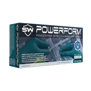 PowerForm Extra-Long Powder-Free Nitrile Gloves, 12 inches Long, Medium, 10 Boxes/Case, 50 Gloves/Box, TEAL