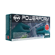 PowerForm Extra-Long Powder-Free Nitrile Gloves, 12 inches Long, Large, 50 Gloves/Box, TEAL