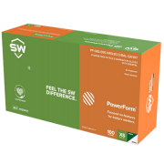 Powerform, Fully textured with Ecotek featuring Breach Alert Visual detection technology & EnerGel, 50 gloves/box , Large (Green)